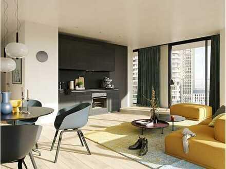 Top-Kapitalanlage mitten im Frankfurt! Stylische 2-Zi.-Wohnung in einem einmaligen Hochhaus
