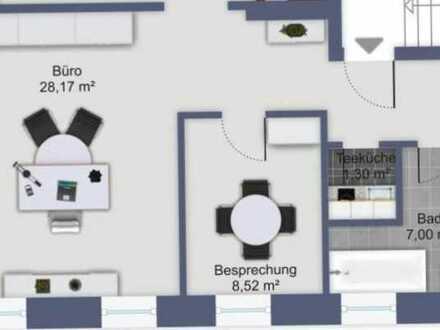Vollständig renovierte 2-Raum-Loft-Wohnung mit Einbauküche in Angelbachtal