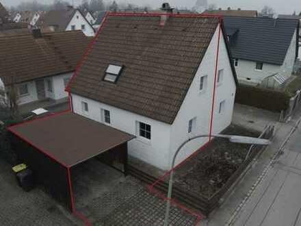 Mini-Doppelhaushälfte mit kleinem Garten