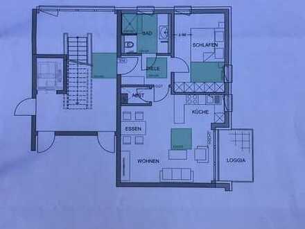 Erstbezug: stilvolle 2-Zimmer-Wohnung mit EBK und Balkon in Ottobeuren
