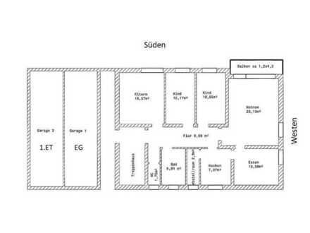5-Zimmer-Wohnung mit Balkon