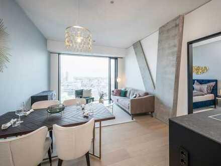 Style trifft Leben: 2-Zimmer-Wohnung mit Terrasse im eindrucksvollen OMNITURM