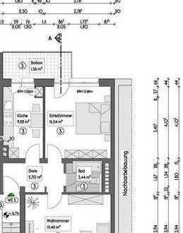 Vermietete Etagenwohnung (1.OG R) auf 54,88m², mit Balkon in Essen - Holsterhausen - Neugründung WEG
