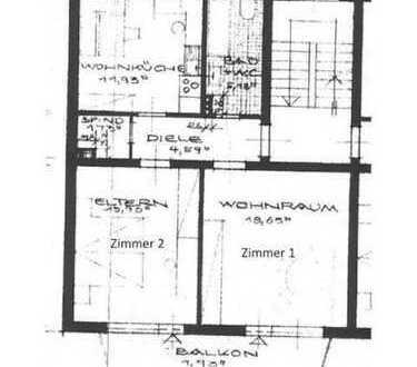 Helles 2er-WG-Zimmer mit Südbalkon in guter Lage mit neuer Küche