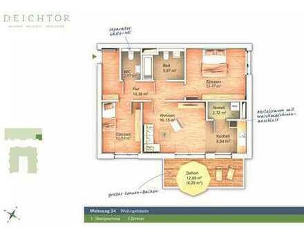 Möblierte 3-Raum-Wohnung mit Balkon und EBK in Bremen