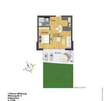 Attraktive Renditenanlage ! 1 Zimmerwohnung im EG (Haus 1 Whg. 2)
