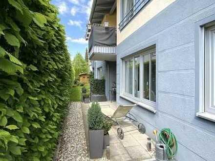 top gepflegte Maisonette-Erdgeschoßwohnung mit kleinem Garten in U-Bahnnähe