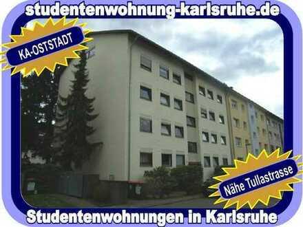 STUDIEREN IN KARLSRUHE = VOLL MÖBLIERTES STUDENTEN-WOHNREFUGIUM MIT SÜDBALKON - NÄHE TULLASTRASSE...