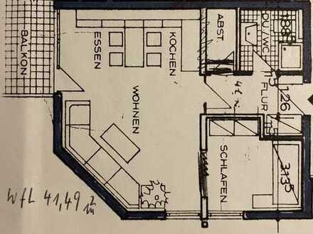 Modernisierte 2-Zimmer-Wohnung mit Balkon in Sandhausen Waldrand