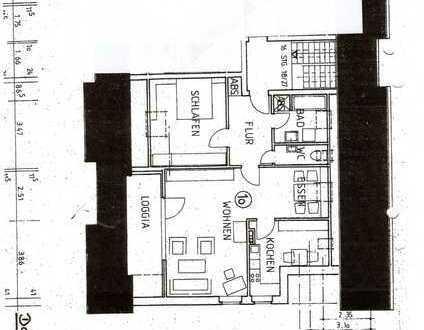 Gepflegte Dachgeschosswohnung mit zwei Zimmern und Balkon in Münster-Roxel
