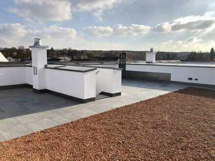 Aussergewöhnliche Attika-Wohnung mit Loggia und privater Dachterrasse mit Dachgarten