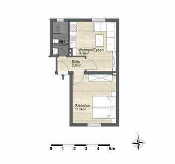 Frisch renovierte 1-Zimmer-Erdgeschoßwohnung in Hagen-Hohenlimburg