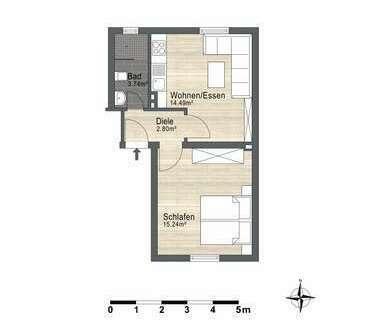 Erste Wahl als Erste Wohnung. Frisch renovierte 1-Zimmer-Erdgeschoßwohnung in Hagen-Hohenlimburg