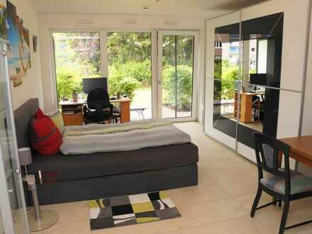 Blick aufs Kreuzviertel: Modernes Apartment mit Einbauküche + Terrasse + Abstellraum