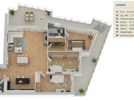 Hochwertige und gepflegte TOP Penthouse-Wohnung - Bezugsfrei