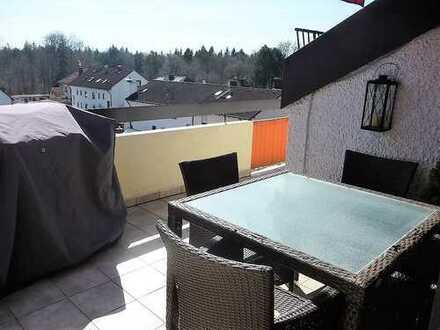 Dachterrassen-Wohnung mit Blick ins Grüne