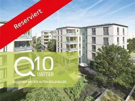 Q10: Quartier an den alten Zollhallen! Neubau 3 Zi.-Gartenwohnung mit Süd-Ausrichtung in Freiburg