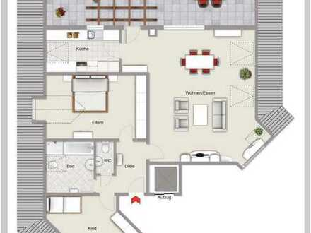 Traumhafte 3-Zimmer-Penthouse-Wohnung
