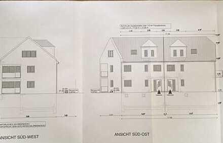 #Traitteur Immobilien - schönes Lückengrundstück, Baugenehmigung für 1 MFH + 2 DHH