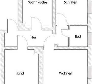 3-Raumwohnung in ruhiger Wohnlage