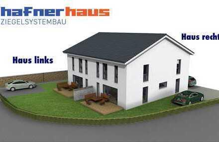 Schlüsselfertige Massivbau-Doppelhaushälfte mit Grundstück in Hundszell (Ingolstadt Süd)