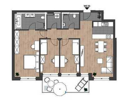 Erstbezug: Großzügige 4-Zimmer-Wohnung mit Süd-West-Balkon in zentraler Lage