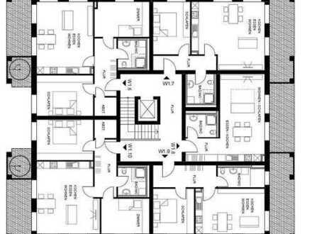 Neubau Mehrfamilienhaus z. Bsp. Haus 1 - Whg 1.7