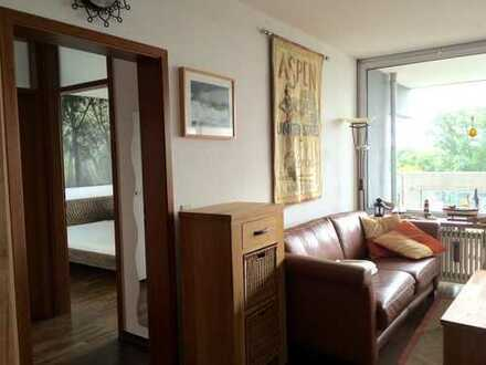Mediterran möblierte 2-Zimmer Wohnung mit Balkon u. Tageslichtbad
