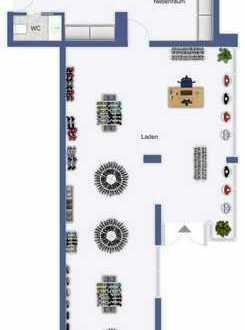 Büro oder Praxisräume in gefragter Einkaufslage von Göppingen mit zwei TG-Stellplätzen