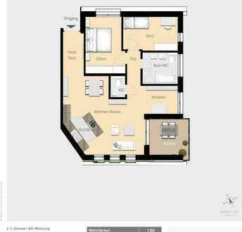 Schöne 4,5-Zimmer Wohnung mit Balkon W15