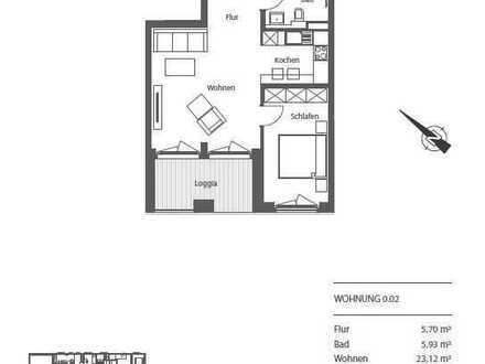 Erstbezug: stilvolle 2-Zimmer-Wohnung mit Balkon in Leipzig