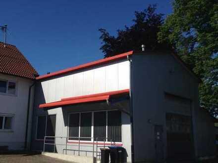 Provisionsfrei: Industrie- & Produktionshalle (320 m2) mit Freiflächen, Parkplätzen und 5 t Kranbahn
