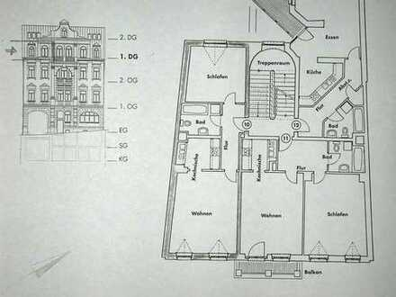 Attraktive 2-Zimmer-Dachgeschosswohnung zur Miete in Plauen