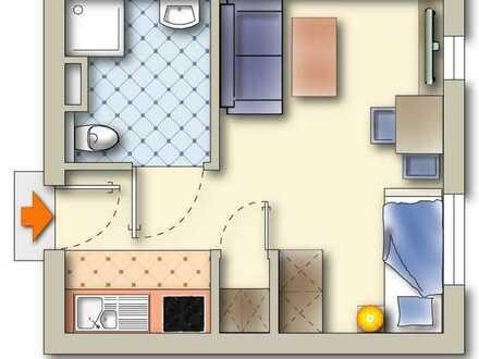 **1 Zimmer-Apartment mit EBK in gepflegter Wohnanlage (WE 105)**