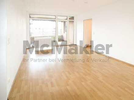 Gepflegte 2-Zimmer-Wohnung mit großem Balkon in idyllischer Lage nahe dem Rheinufer!