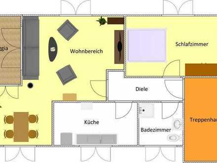 sanierte Dachgeschosswohnung in gepflegtem, freistehenden Zweifamilienhaus