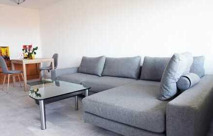 Möbliert - 2 Zimmer Wohnung mit Balkon und Panoramablick und Garage