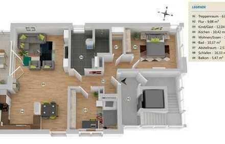 Erstbezug: Exklusive u. moderne schöne 3-Zimmer-Wohnung in Bergisch Gladbach