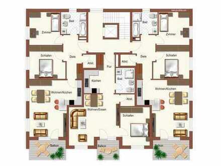 ...Neubau - 3-Zimmer Wohnung im Dachgeschoss mit großem Balkon in ruhiger Lage in Mühldorf....