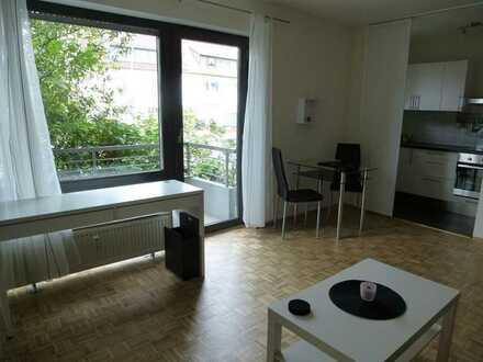 Vollmöbliertes, modernes 1-Zimmer-Appartment inkl. Balkon und EBK am Ebertpark
