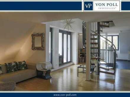 Lichtdurchflutete und helle Maisonette-Wohnung in ruhiger und zentraler Lage