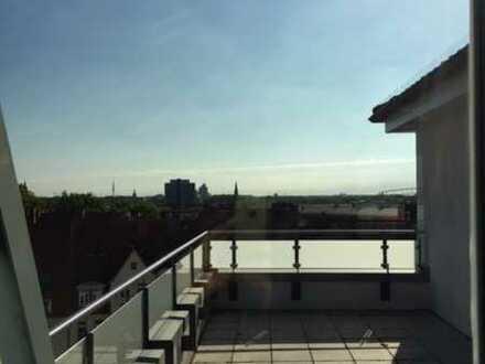 Exklusive 2-Zimmer-Maisonette-Wohnung mit 2 Dachterrassen und wunderschönen Ausblick