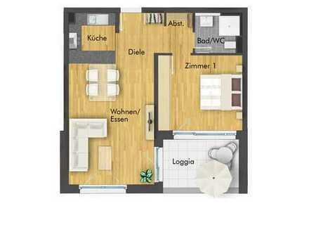 Toll geschnittene 2-Zimmer Wohnung mit Loggia im 2. Obergeschoss