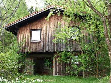 Freizeitgrundstück mit Jagdhütte und tollem Ausblick!