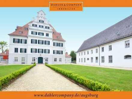 Wohnen im Schloß Niederraunau - 2-Zimmer-Wohnung mit großem Westbalkon