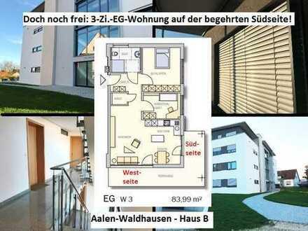 """Gehobener Neubau-Erstbezug mit Süd- """"und"""" Westterrasse – Aalen-Waldhausen!"""