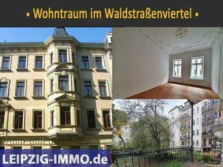 LUXUS pur im Waldstraßenviertel: FLÜGELTÜREN * STUCK * BALKON * grüner Garten