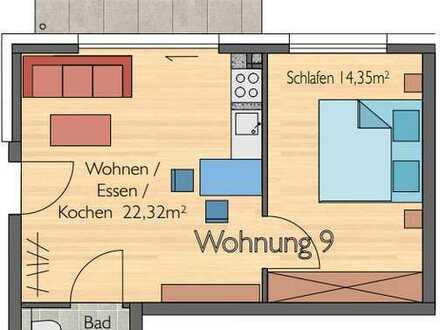 Erstbezug mit Balkon: stilvolle 2-Zimmer-Wohnung in Gärtringen