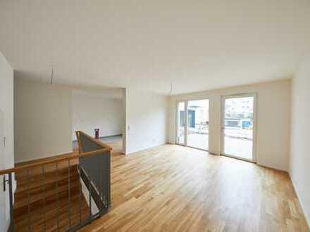 ERSTBEZUG! Exklusive, citynahe 2-Zimmer-Wohnung mit Terrasse am Stadtpark (EG, Parkett, TG, …)