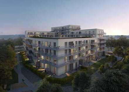 Erstbezug: 4-Zimmer-Wohnung mit großem West-Balkon in Germering, keine 100m zur S-Bahn!